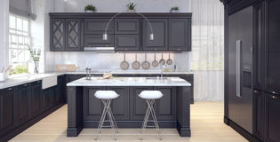 厨房经典设计  库存例证