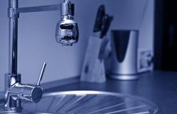厨房水槽细节 库存图片