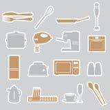 厨房贴纸设置了eps10 库存照片