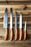 厨房knifes设置了 免版税库存照片