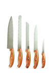 厨房knifes 免版税库存照片