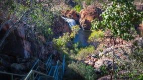 去伊迪丝的足迹落,北方领土,澳大利亚 免版税库存图片