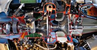 去剪切引擎喷气机 免版税图库摄影