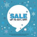 去年冬天销售,雪花,泡影 免版税图库摄影