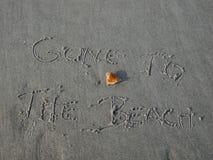 去海滩 库存图片