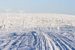 去滑雪的跟踪下坡 免版税库存图片