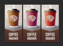 去的咖啡证件概念 eps10开花橙色模式缝制的rac ric缝的镶边修整向量墙纸黄色 免版税图库摄影