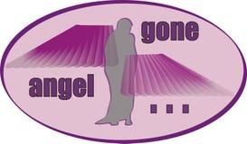去的天使 库存例证