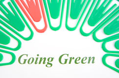 去的绿色徽标 图库摄影