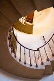 去的老来回楼梯  免版税库存图片