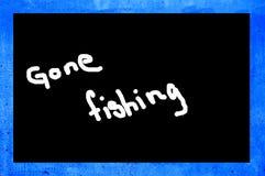 去的钓鱼 库存图片