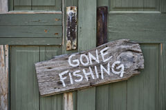 去的钓鱼 免版税库存照片