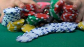 去绝望的人包括一切,演奏扑克牌游戏,脖子或者,赌博娱乐场 股票录像