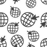 去网无缝的样式背景象 企业平的传染媒介 免版税库存图片