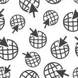 去网无缝的样式背景象 企业平的传染媒介 免版税图库摄影