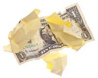 去货币投掷 免版税库存照片