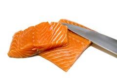 去骨切片的三文鱼 免版税库存图片