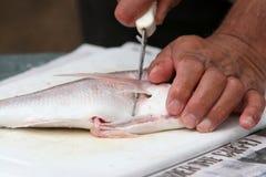 去骨切片的鱼 库存图片