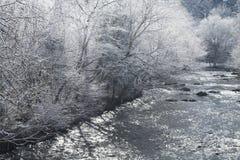县横向河sevier多雪 库存照片