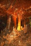 县海军部高度的中国的广西桂林岩石的--奇怪的钟乳石柱子 库存图片