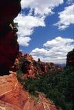 县红色岩石 库存照片