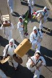 参与在米兰小丑节日的执行者2014年 免版税库存照片