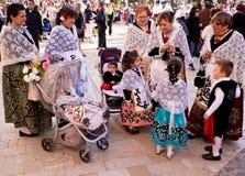 圣周庆祝在卡塔赫钠,西班牙 免版税库存图片