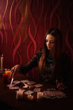 参与巫术女孩 免版税库存图片