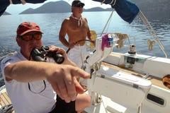 参与赛船会航行水手 免版税库存照片