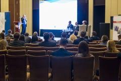 参加业务会议的小组专家 图库摄影