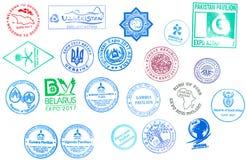 参加国际性组织的国家的邮票专门了研究陈列商展2017年`未来能量`阿斯塔纳,哈萨克斯坦 向量例证