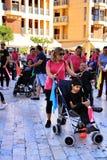 参加活动的人们为世界天大脑麻痹 免版税图库摄影