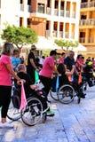 参加活动的人们为世界天大脑麻痹 免版税库存图片