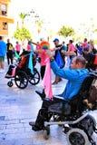 参加活动的人们为世界天大脑麻痹 免版税库存照片