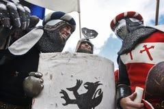 参加者为争斗做准备 免版税库存照片