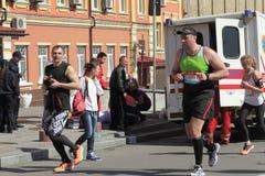 参加者变化马拉松 库存照片