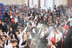 参加者在传统庆祝时 免版税库存图片