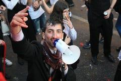 参加者在传统庆祝时 库存图片