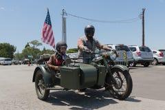 参加者在摩托车 免版税库存照片