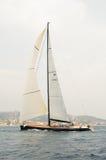 参加者在最大的游艇劳力士杯赛艇 免版税库存照片