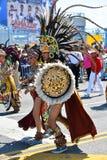 参加者在第34次每年美人鱼游行前进在科尼岛 免版税库存图片