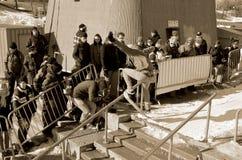 参加者在雪板运动 免版税库存图片