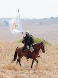 参加者在Hattin垫铁的重建在移动战场的1187作战在提比里亚,以色列附近 库存图片