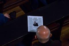 参加者,辩论, 3月` 68 免版税库存照片