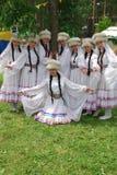 参加者Sabantuy鞑靼人的全国服装 库存照片
