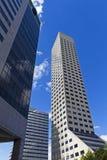 参天的摩天大楼在城市 库存图片