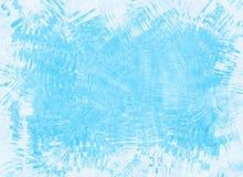 参差不齐的结冰的冰蓝色框架背景 免版税图库摄影