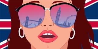 参观伦敦,学会英语 免版税图库摄影