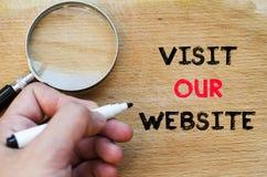 参观我们的网站文本概念 免版税图库摄影