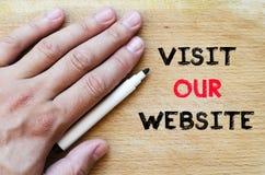 参观我们的网站文本概念 库存图片